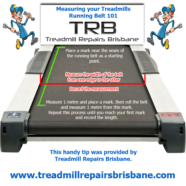 Treadmill Belt - How to Measure it Correctly - Courtesy of Treadmill Repairs Brisbane